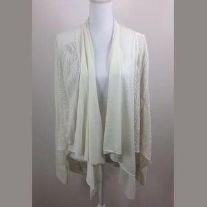 Tiny Anthropologie Open Front Waterfall Cardigan